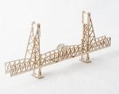 3D Model Kit of the Hawthorne Bridge Portland Oregon, Laser Cut Model Kit, Architects Design