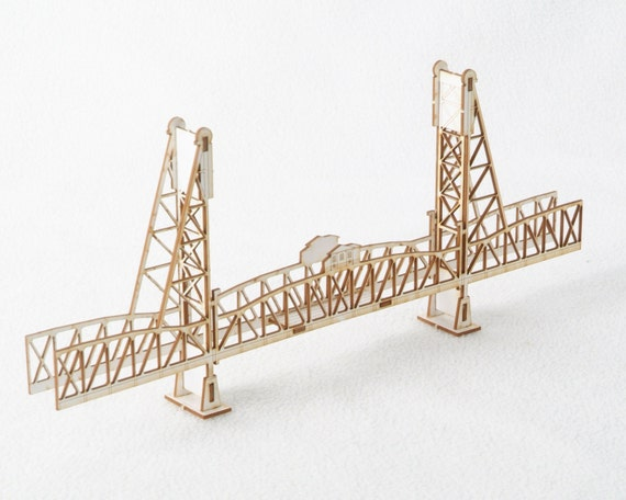 3d Model Kit Of The Hawthorne Bridge Portland Oregon Laser