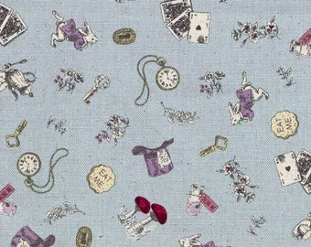 Alice in Wonderland fabric by Kokka (canvas). SK071