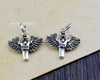 2 pcs sterling silver angel wing charm pendant  SKUBL/LY