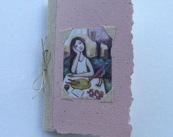Small notebook with illustration