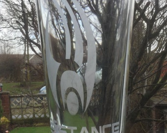 Star Trek - Borg - Resistance is Futile -  Etched pint glass