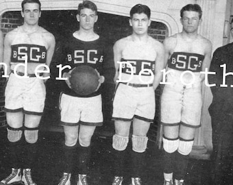 Boys Basketball Team St. George's School Newport Rhode Island 1922 Photogravure Athletics Print