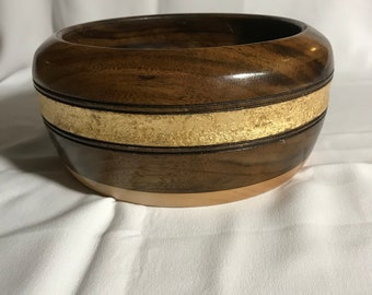 Beautiful ornate bowl with gold accents