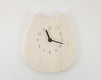 Cat Clock | Wood & Acrylic