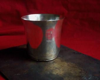 Antique silver tumbler by Puiforcat - art déco era circa 1930