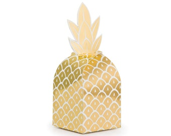 Pineapple Party Favor Boxes - Pineapple Favors, Tropical Party Favors, Pineapple Bachelorette, Tropical Birthday, Pineapple Birthday Favors