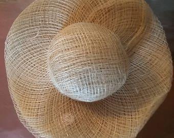 Sinamay hats straw hats 7 inch hats