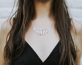 Howlite Collar Necklace | Statement Jewelry