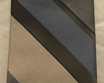 Vintage Tie ~ WemSilk by Wembley ~ Gray, Blue