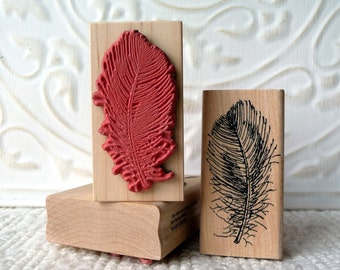 Downey Feather rubber stamp from oldislandstamps