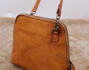 Brown Leather Shoulder Bag, Everyday Bag, Womens Bag, Leather Crossbody Bag, Leather Messenger Bag Women, Leather Purse, Leather Bag
