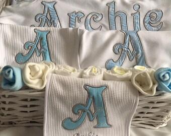 Personalised New baby ensemble keepsake babyshower gift