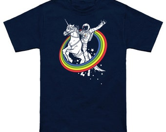 Kid's & toddler's Epic Combo #23 Astronaut Riding a unincorn through a rainbow in space graphic T-shirt