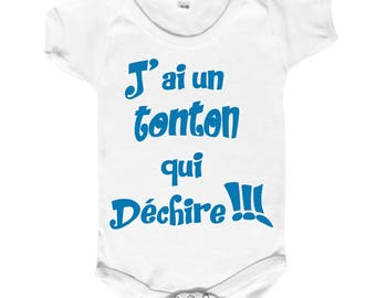 "funny baby Bodysuit ""I have an uncle who rocks"""
