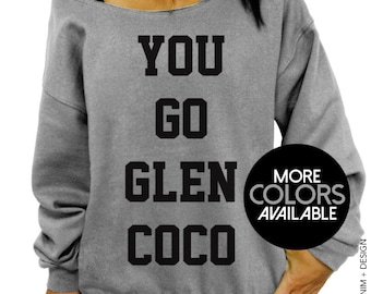 You Go Glen Coco, Off the Shoulder, Oversized, Slouchy Sweatshirt, Women's Sweater, Womens clothing, Ladies Top, Tunic, Plus Sized Clothing