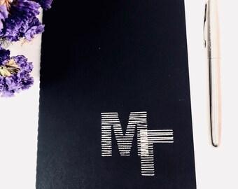 Monogrammed Large Moleskine Notebook