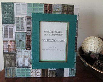 5x7 Patterned Themed - Hand Decorated Picture Frame
