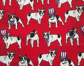 French Bulldog heating bag, patriotic, dogs, hot cold pack, relaxation, neck pain, Uncle Sam, dog gift, get well gift, microwave heat pack