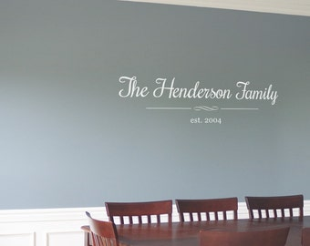 Living Room Wall Decal / Family Room Wall / Dining Room Wall / Foyer Wall Quote / Wall Vinyl / Home Vinyl Decal / Family Established