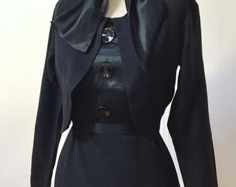 Vintage 30s 40s Dress with built in Jacket