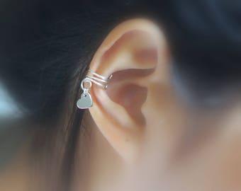 164)No Piercing Cute Heart Charm Ear Cuff
