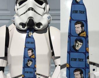 Star Trek Novelty Necktie - USS Enterprise Kirk Spock Tie Squares