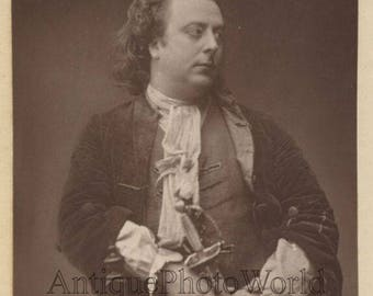 Handsome English actor John Clayton with sword antique theater photo
