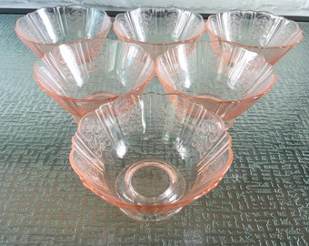 MacBeth - Evans Glass  American Sweetheart Pink Sherbets