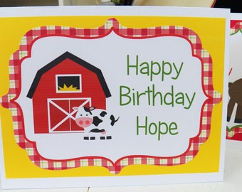 Farm Birthday Party - Customized Table Tents to Decorate Your Space by The Birthday House