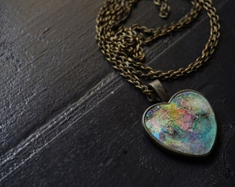 Crystal skull necklace holographic opalite skull opal holographic heart pendant pastel goth rave pastel grunge necklace long holographic necklace holographic grunge holograph rave mozeypictures Images