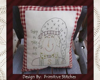 Thyme To Make The Toys-Primitive Stitchery  E-PATTERN by Primitive Stitches-Instant Download