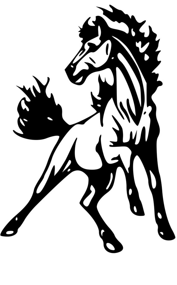 Horse Trailer Trailer Decal Horse Mustang Decalhorse