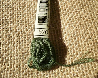 Green 25 520 colours, DMC cotton FLOSS skein