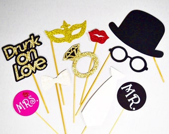 Wedding party props 10pc , photobooth props