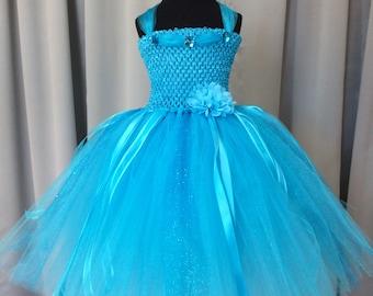 Turquoise princess tulle tutu dress, tutu dress for girls, tutu dress for girls, birthday dress, gift for her, dress up princess dress