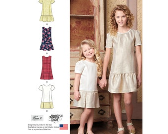 Simplicity 8183 Childs and Girls Dress or Jumper with Skirt Variations. Size 3-6. Pattern is new and uncut.