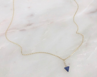 Blue arrow dainty, minimal, simple and elegant necklace. Perfect delicate piece for layering.