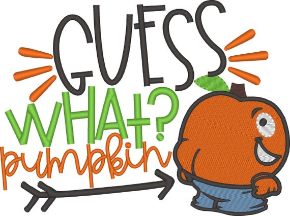 SAMPLE SALE, Guess What Pumpkin Butt Embroidered Halloween Shirt - Kids Halloween Shirt - Boys Halloween Shirt - Fall Shirt