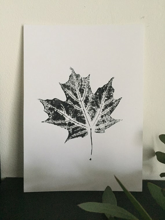 "Sugar Maple Leaf Print   5x7"" by Etsy"