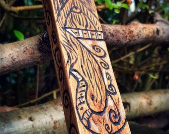 Heimdallr wood carving