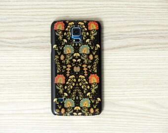 iPhone 6 caso iPhone floreale nero 7 caso floreale Samsung Galaxy S7 caso galaxy S6 bordo caso nota 5 caso iphone 6 Plus caso LG G4 caso floreale