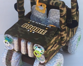 Diaper Cake For Boy, Camo Baby Shower, Military Baby, Army Baby Shower,
