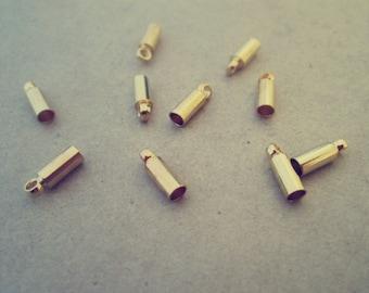100pcs gold color pendant connector 2mm