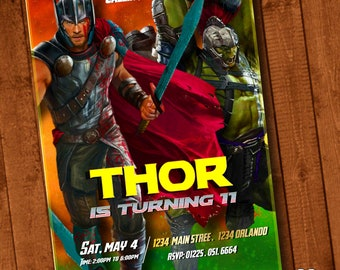 Thor Invitation-Thor Invite-Thor Birthday Invitation-Thor-Thor Digital File Download