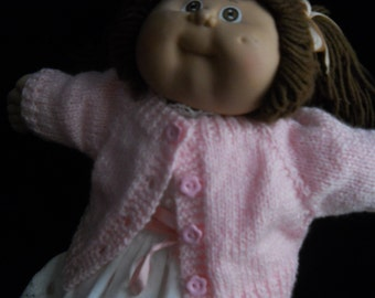 Soft Pink Sweater for 16in Cabbage Patch Kid Girl