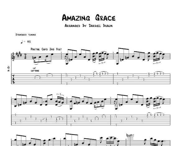 amazing grace celtic acoustic guitar sheet music. Black Bedroom Furniture Sets. Home Design Ideas