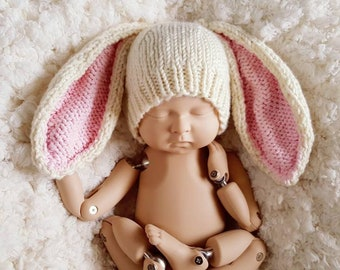Ready To Ship - Bunny Hat, Bunny Ears, Easter Hat, Photo Prop