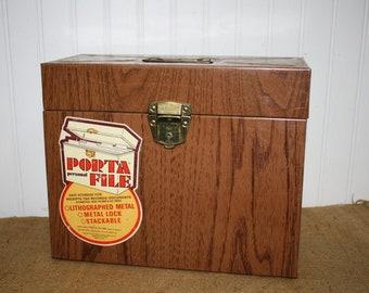 Vintage Metal File Box - item #2948