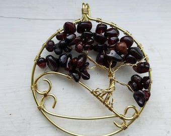 Gold and Garnet tree of life